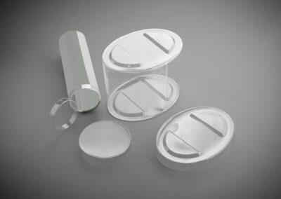 Deckel für Kunststoffrund und Ovaldosen
